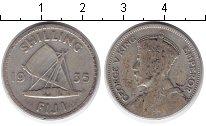 Изображение Монеты Фиджи 1 шиллинг 1935 Серебро VF Георг V. Лодка