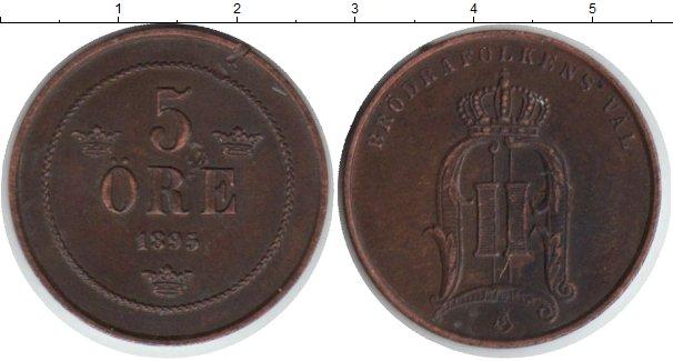 Картинка Монеты Швеция 5 эре Медь 1893