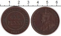 Изображение Монеты Австралия 1 пенни 1921 Медь VF