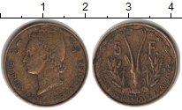 Изображение Монеты Франция Французская Африка 5 франков 1956  VF