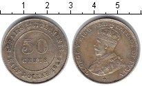Изображение Монеты Стрейтс-Сеттльмент 50 центов 1920 Серебро XF Георг V