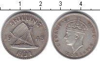 Изображение Монеты Фиджи 1 шиллинг 1943 Серебро XF
