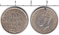 Изображение Монеты Ньюфаундленд 10 центов 1943 Серебро XF Георг VI