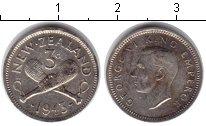 Изображение Монеты Новая Зеландия 3 пенса 1942 Серебро VF