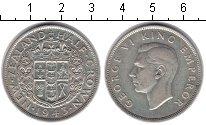 Изображение Монеты Новая Зеландия 1/2 кроны 1943 Серебро XF Георг VI