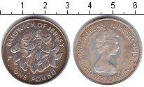 Изображение Монеты Остров Джерси 1 фунт 1972 Серебро XF