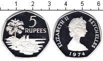 Изображение Монеты Сейшелы 5 рупий 1974 Серебро Proof