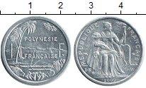 Изображение Монеты Полинезия 1 франк 2009 Алюминий XF