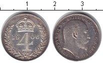 Изображение Монеты Великобритания 4 пенса 1906 Серебро XF Эдуард VII