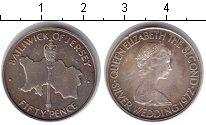 Изображение Монеты Остров Джерси 50 пенсов 1972 Серебро XF