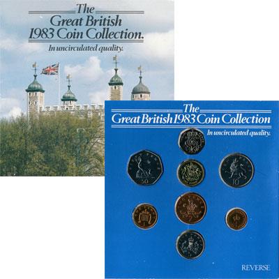 Изображение Подарочные монеты Великобритания Великобритания 1983 1983  UNC Набор в подарочной у