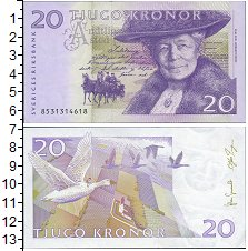 Изображение Банкноты Швеция 20 крон 0  UNC-