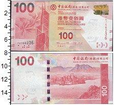 Изображение Боны Гонконг 100 долларов 0  UNC- Цветок