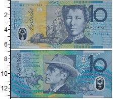 Изображение Банкноты Австралия 10 долларов 0  UNC- Портрет Банджо Патер