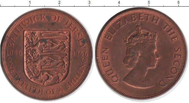 Картинка Монеты Остров Джерси 1/12 шиллинга Медь 1966