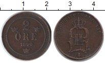 Изображение Монеты Швеция 2 эре 1890 Медь XF Оскар II
