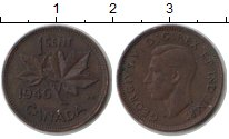Изображение Монеты Канада 1 цент 1946 Медь XF