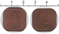 Изображение Монеты Великобритания Малайя 1 цент 1945 Медь XF