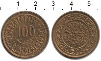 Изображение Монеты Тунис 100 миллим 1983  XF