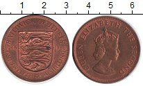 Изображение Монеты Великобритания Остров Джерси 1/12 шиллинга 1966 Медь XF