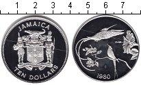 Изображение Монеты Ямайка 10 долларов 1980 Серебро Proof-