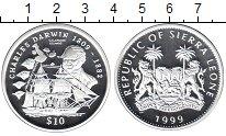 Изображение Монеты Сьерра-Леоне 10 долларов 1999 Серебро Proof-