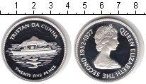Изображение Монеты Тристан-да-Кунья 25 пенсов 1977 Серебро Proof 25-летие правления Е