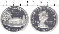 Изображение Монеты Новая Зеландия 1 доллар 1977 Серебро UNC-