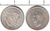 Изображение Монеты ЮАР 3 пенса 1941 Серебро VF Георг VI