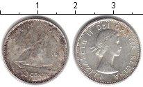 Изображение Монеты Канада 10 центов 1964 Серебро XF Елизавета II