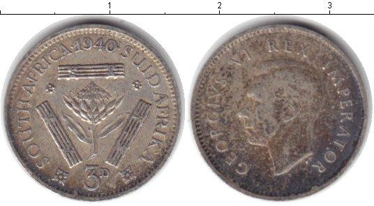 Картинка Монеты ЮАР 3 пенса Серебро 1940