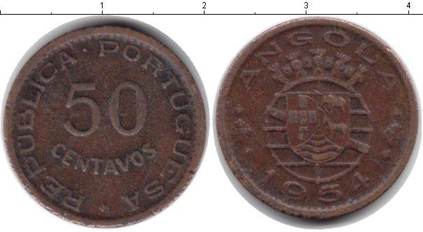 Картинка Монеты Ангола 50 сентаво Медь 1954