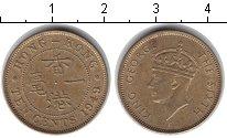 Изображение Монеты Гонконг 10 центов 1949  XF Георг VI
