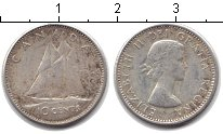 Изображение Монеты Канада 10 центов 1964 Серебро XF Парусник
