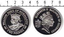 Изображение Подарочные монеты Гернси 2 фунта 1987 Серебро Proof Вильям Дюк. Мо