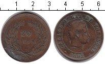 Изображение Монеты Португалия 20 рейс 1892 Медь VF Карлос I