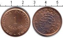 Изображение Монеты Ангола 1 эскудо 1974 Медь XF Колония Португалии