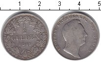 Изображение Монеты Баден 1/2 гульдена 1841 Серебро VF