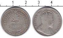 Изображение Монеты Белиз 25 центов 1906 Серебро VF