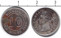 Изображение Монеты Маврикий 10 центов 1886 Серебро VF