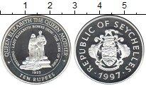 Изображение Монеты Сейшелы 10 рупий 1997 Серебро Proof-