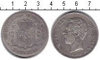Изображение Монеты Испания 5 песет 1871 Серебро XF
