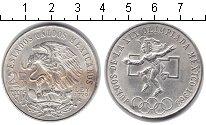Изображение Монеты Мексика 25 песо 1968 Серебро UNC- Олимпиада в Мехико И
