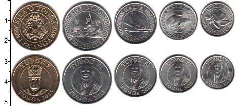 Изображение Наборы монет Тонга Тонга 2015 2015  UNC-