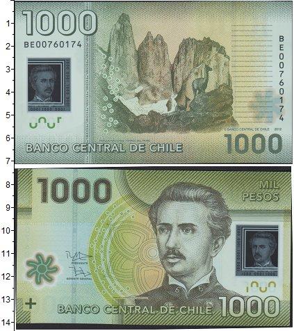 Картинка Банкноты Чили 1.000 песо  2012