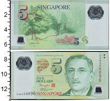 Изображение Банкноты Сингапур 5 долларов 1999  UNC-