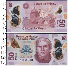 Изображение Боны Мексика 50 песо 2012  UNC- Бабочки