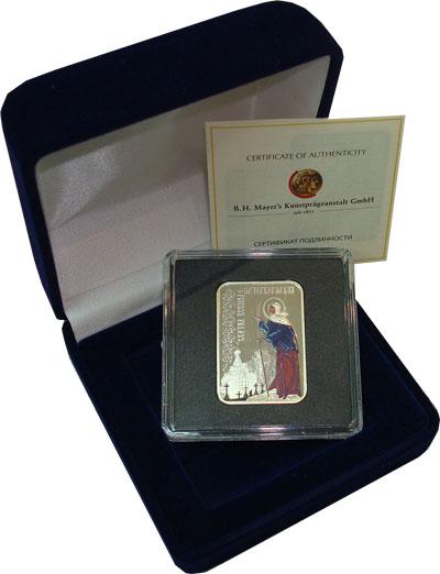 Изображение Подарочные монеты Новая Зеландия Ниуэ Святая Ксения Петербургская 2012 Серебро Proof