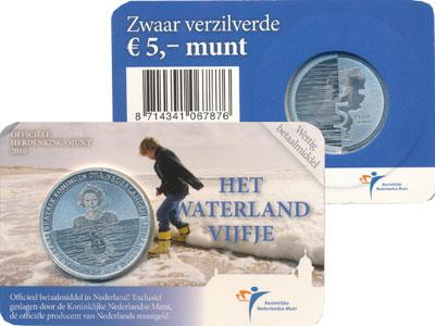 Изображение Подарочные монеты Нидерланды 5 евро 2010 Посеребрение UNC Голландский подарочн
