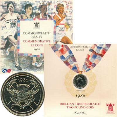 Изображение Подарочные монеты Великобритания XIII Игры Содружества 1986  UNC